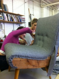 Intensive workshops in Upholstery and Cabinet Making, Easter 2014