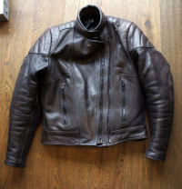 Woman's Frank Thomas Leather motorbike jacket size 10