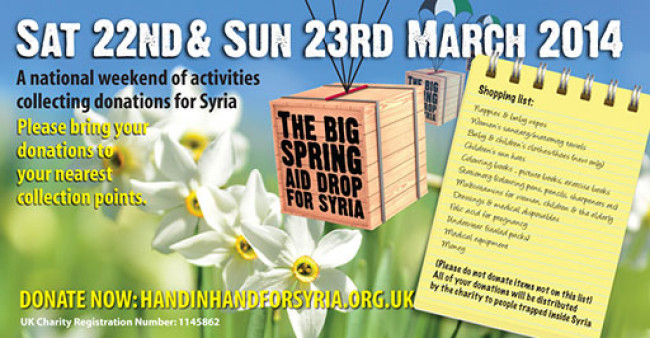 Charity Drop off for Syria