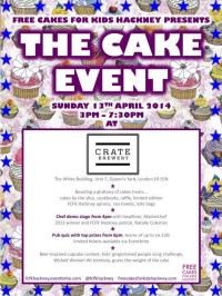 Free Cakes for Kids Hackney presents… THE CAKE EVENT Fundraiser