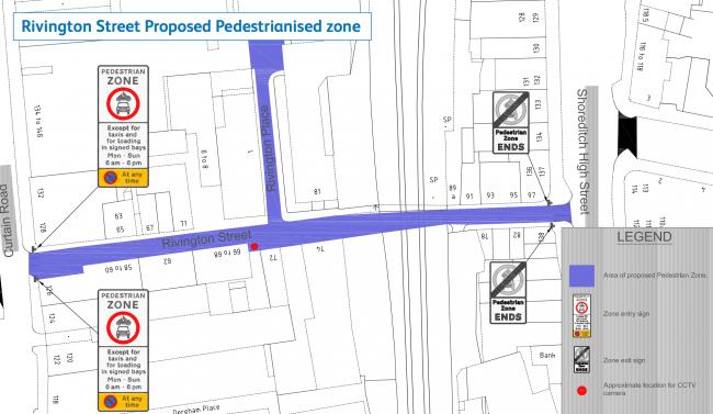 Rivington Street Pedestrianisation proposal