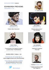 Excellent & Almost Free Comedy Previews in Clapton