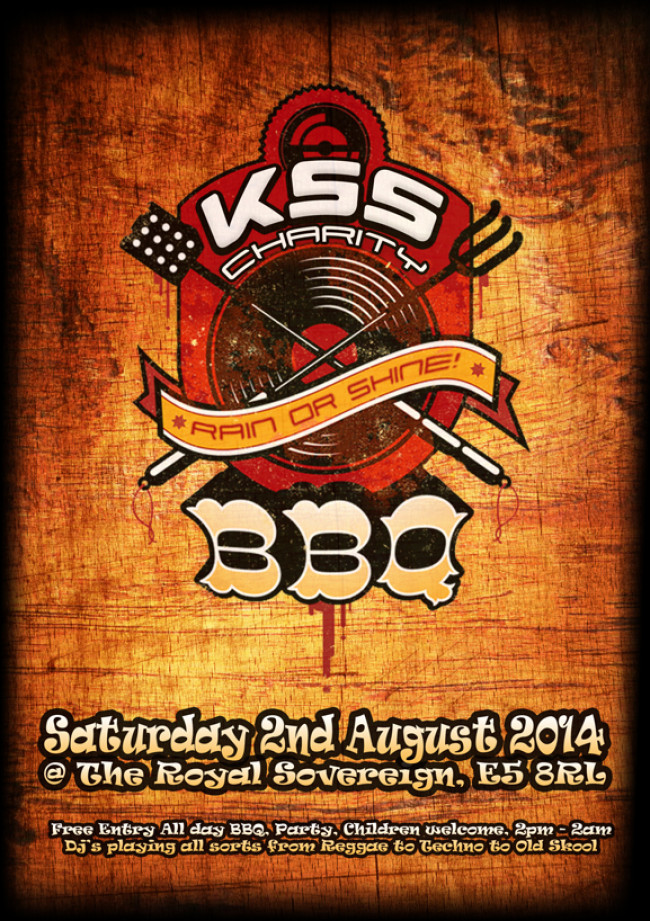 KSS Charity BBQ & Party – At the Royal Sovereign, Clapton, E5
