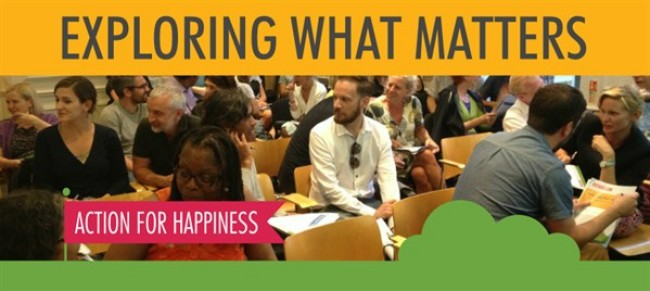 """""""Action for Happiness""""  8 week course"""