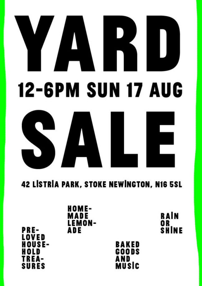 Yard Sale / Jumble Sale