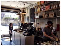 Classes downstairs at Yellow Warbler Coffee Shop
