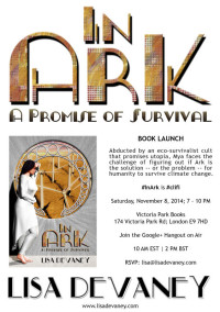 Please help me celebrate my book launch! In Ark: A Promise of Survival #InArk #clifi